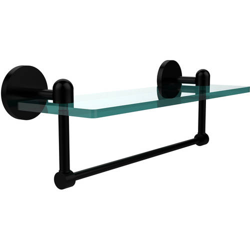 """Tango Collection 16"""" Glass Vanity Shelf with Integrated Towel Bar (Build to Order)"""