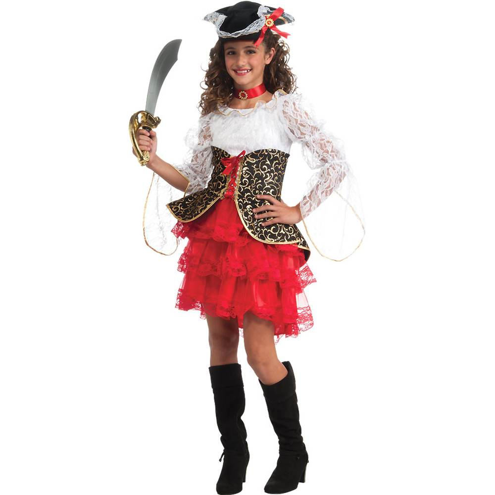 Seven Seas Pirate Deluxe Kids Costume by Rubie's