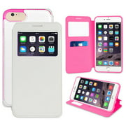 iPHONE 7/8 VIEW WALLET CASE, BEYOND CELL INFOLIO WINDOW WALLET CREDIT ID CARD SLOT CASE VIEWING STAND FOR APPLE iPHONE 7/8