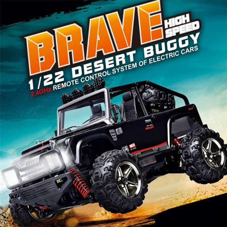 SZJJX High Speed RC Cars, 45KM/H+ Racing Remote Control Monster Trucks 1/22 Scale 4WD 2.4Ghz Radio Controlled Off-Road Vehicle Rock Crawler Fast Electric Desert Buggy SJ1511