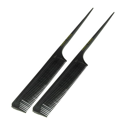 Unique Bargains Hair Care Smooth Tail Comb Fine Tooth 2 Pcs (Fine Teeth Comb)