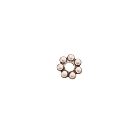 Pkg Daisy - Daisy Spacer Antique-Silver Plated 5x1.3mm Sold per pkg of 50