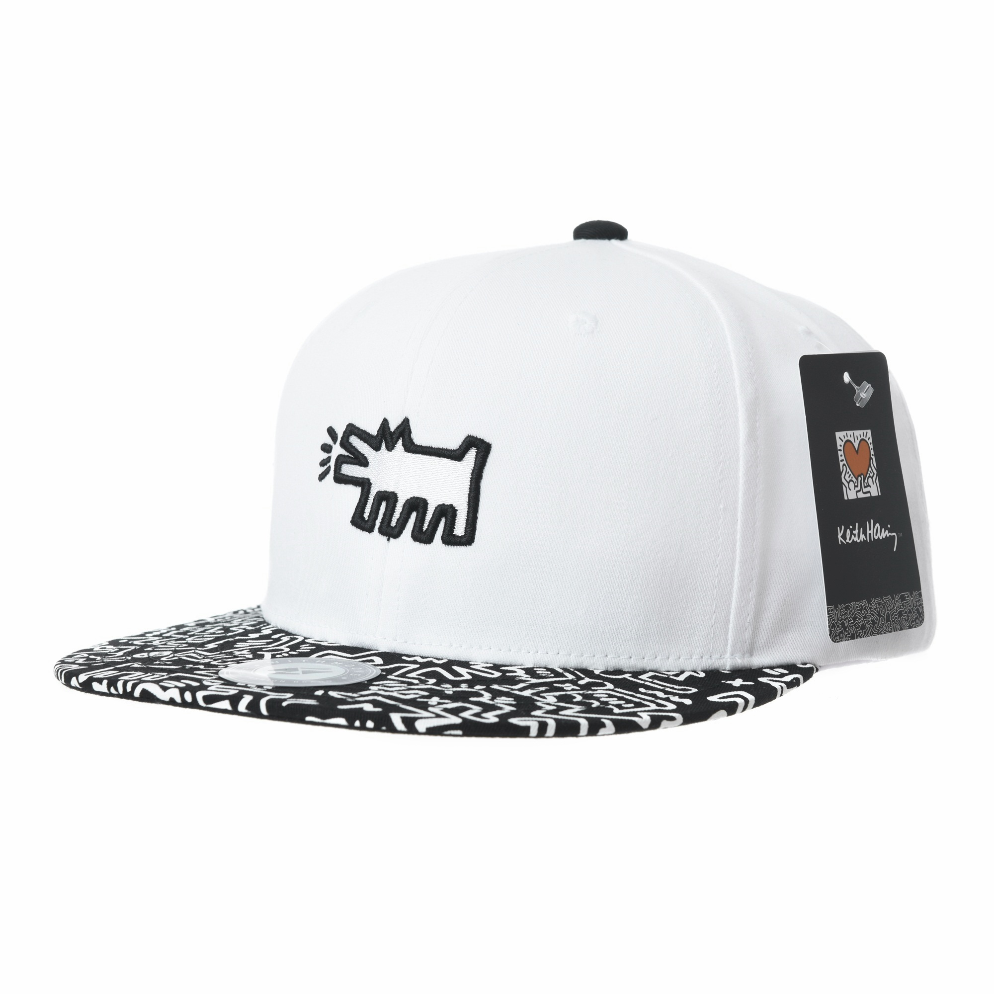 WITHMOONS Snapback Hat Keith Haring Pop Art Print Dog Embroidery Baseball  Cap CR2953 (White) - Walmart.com 553b739ad5e
