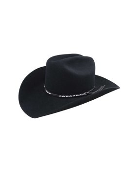 81427c0c7b4 Product Image Bailey Cowboy Hat Mens Leather Silver Studs Cattleman Crown  Alamo 4429. Bailey Western