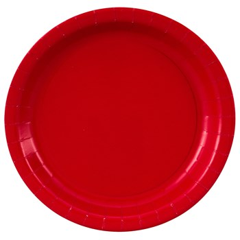 7'' Luncheon Plates - 24-Pack, School Bus Yellow
