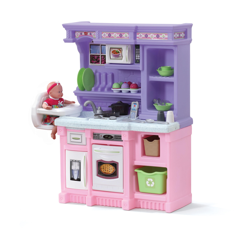 Step2 Little Bakers Kids Play Kitchen With 30 Piece Accessory Play Set Walmart Com Walmart Com