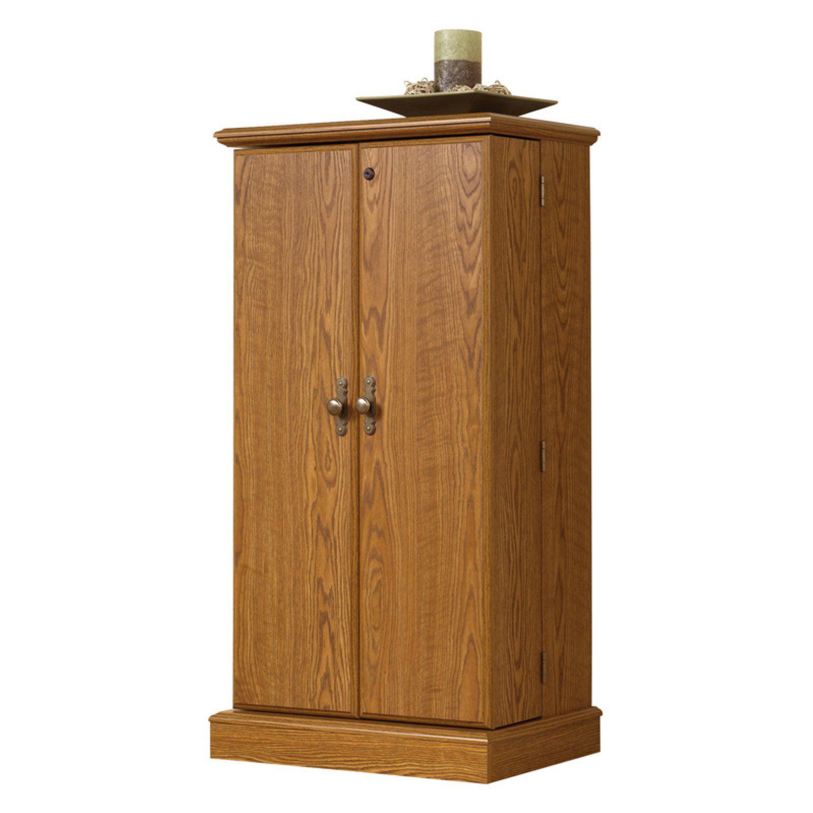 Sauder Orchard Hills Multimedia Storage Cabinet - Carolina Oak ...