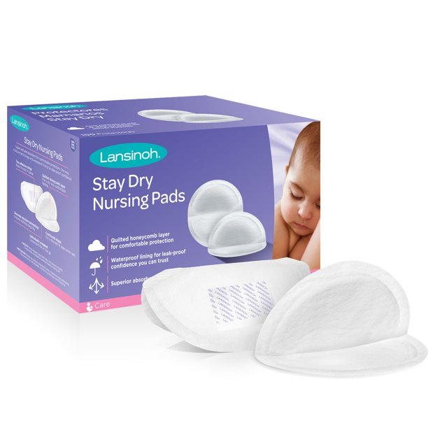 Lansinoh Disposable Stay Dry Nursing Pads, 100 Count