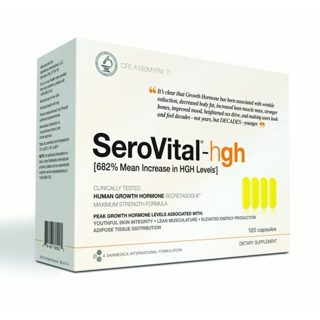 SeroVital Anti-Aging Supplement Capsules, Supports Youthful Skin, Lean Musculature, and Energy Production, 120