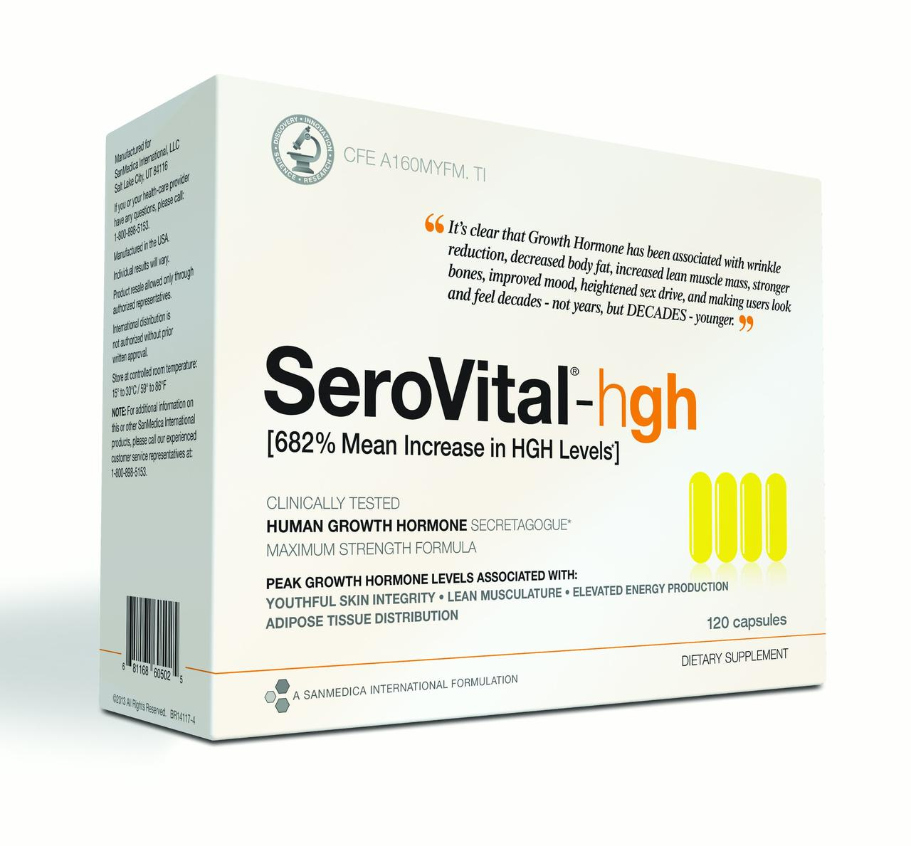 Serovital Anti-Aging Supplement Capsules, 120 Ct