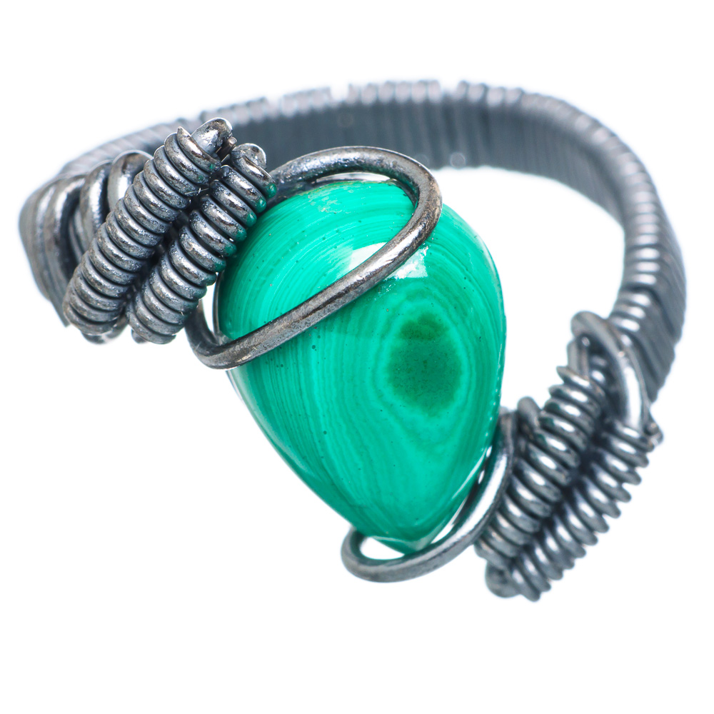 Ana Silver Co Malachite Oxidized 925 Sterling Silver Ring Size 9.5 RING767492