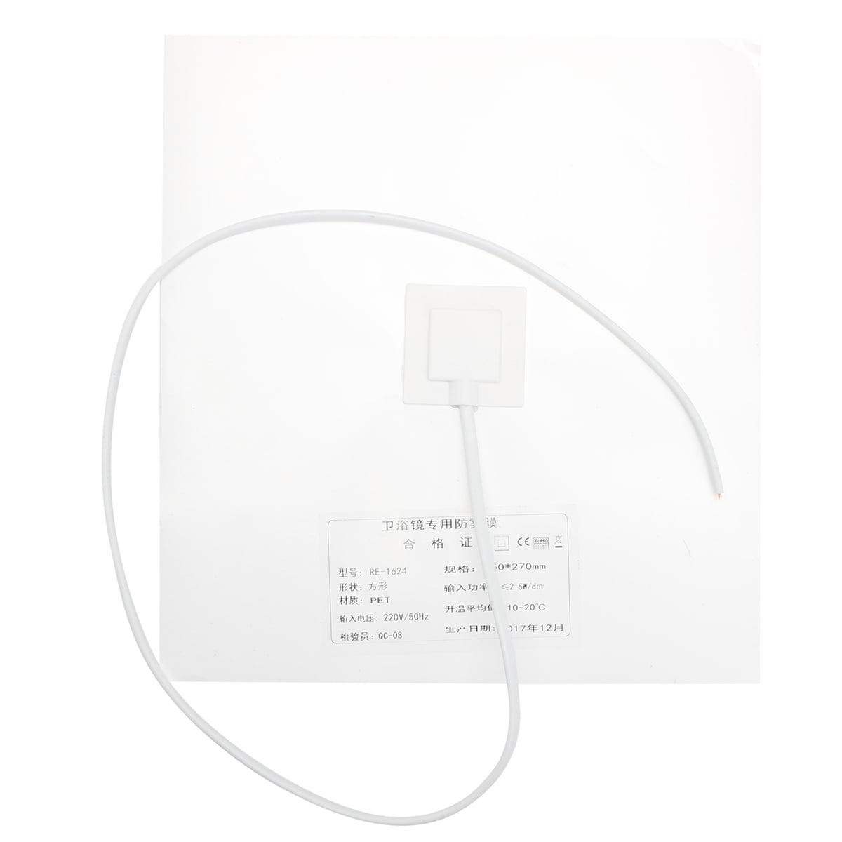 Bathroom Mirror Demister Defogger Heating Pad Steam Free 110V 220V 240V  .