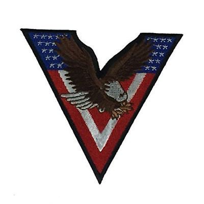 V FOR VICTORY STAR SPANGLED WITH EAGLE PATCH PEACE SIGN WORLD WAR TWO 2 WWII