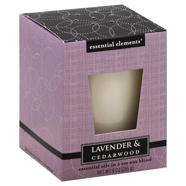 Candle Lite 1540353 Scented Candle,  Lavender & Cedar Wood, 9-oz. Jar