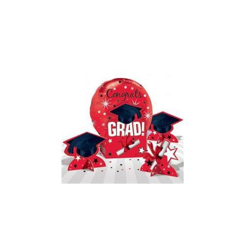 Amscan 202582 Congrats Grad Red Graduation Balloon Centerpiece