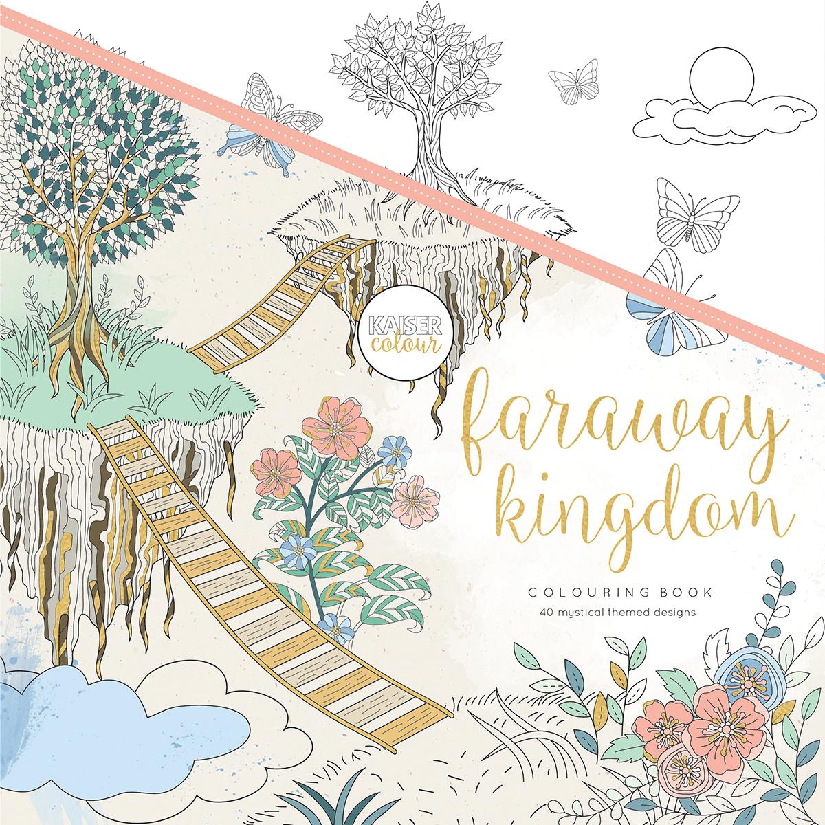 """KaiserColour Perfect Bound Coloring Book 9.75""""X9.75""""-Faraway Kingdom"""