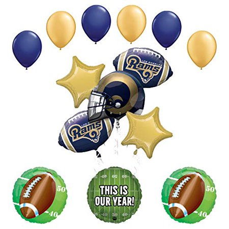 Mayflower Products Rams Football Party Supplies This is Our Year Balloon Bouquet Decoration](Football Balloons)