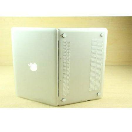 (AGPtek 3 in 1 Clear Crystal Rubberized Hard case laptop shell For apple Macbook Pro 13 13.3