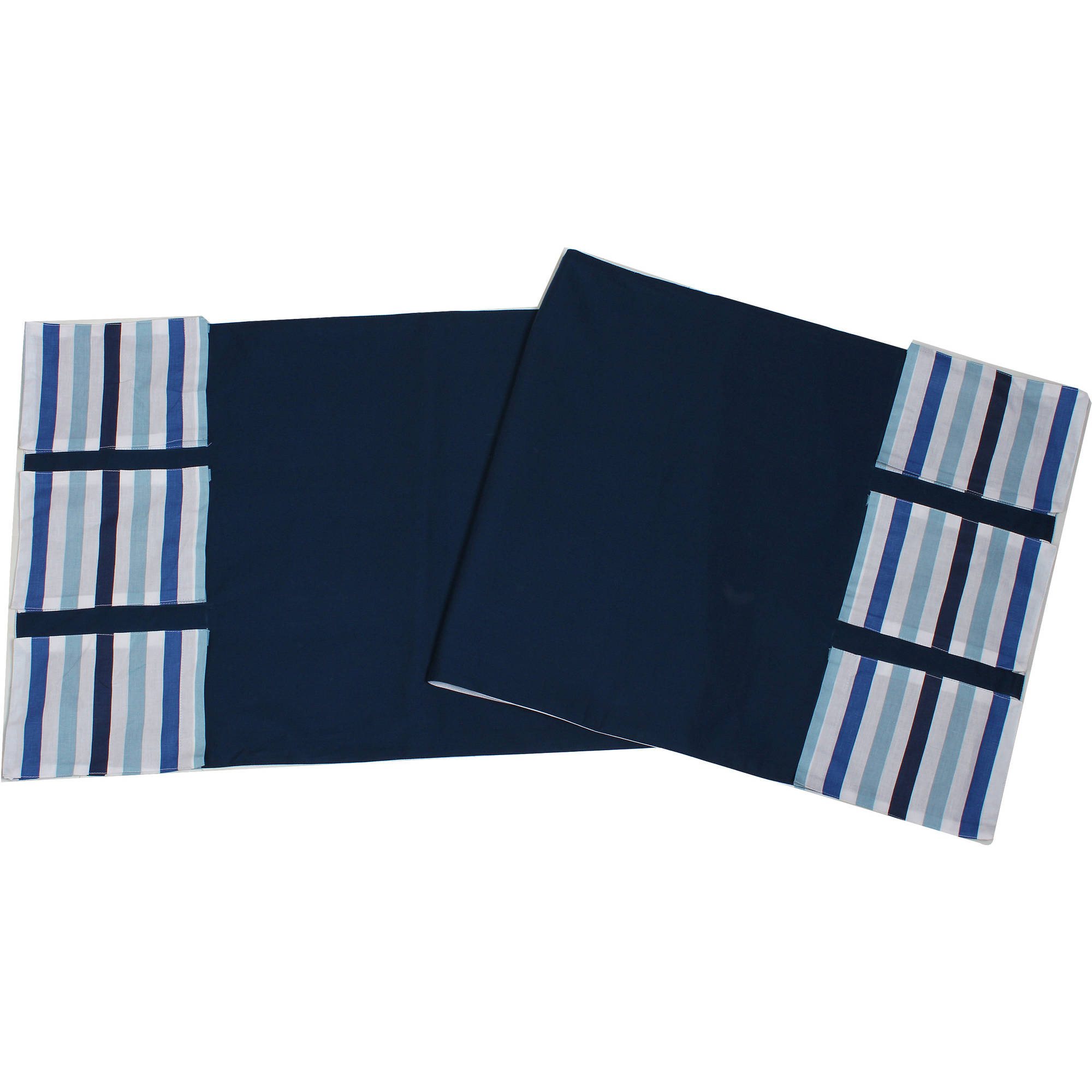 Bacati - Little Sailor Blue Stripes, Changing Table Storage Runner