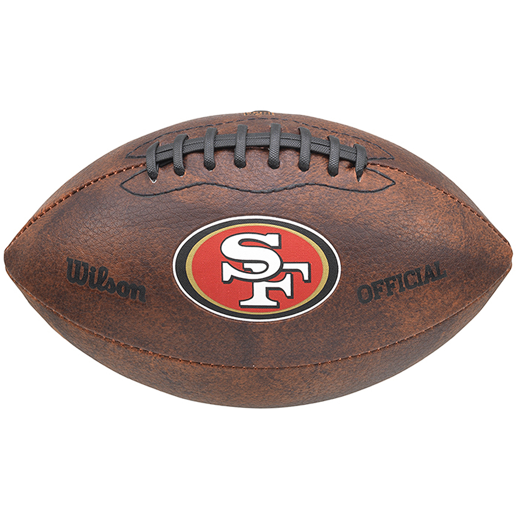 "Wilson NFL 9"" Color Throwback Football, San Francisco 49ers"