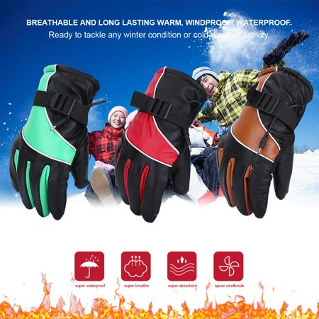 Yosoo Motorcycle 12V Heated Gloves Motorcycle Heated Gloves,Outdoor Hunting Ski Racing Winter Warm Gloves