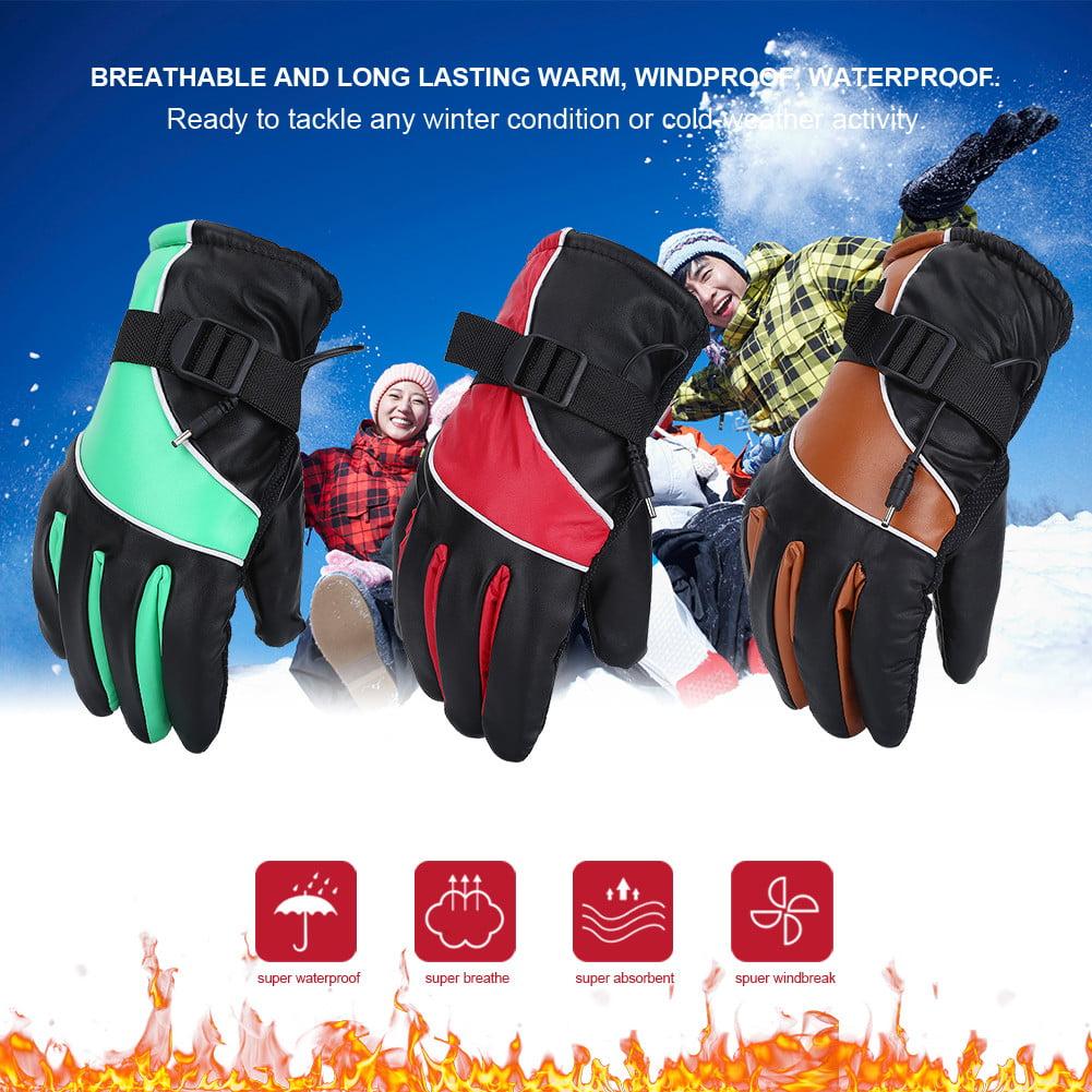 Yosoo Motorcycle 12V Heated Gloves Motorcycle Heated Gloves,Outdoor Hunting Ski Racing Winter Warm Gloves Waterproof