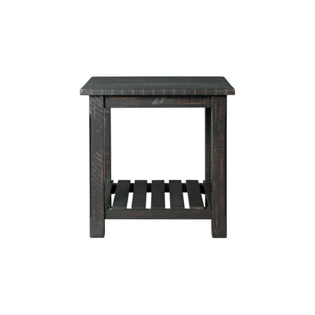 - Martin Svensson Home Barn Door Collection End Table, Antique Black
