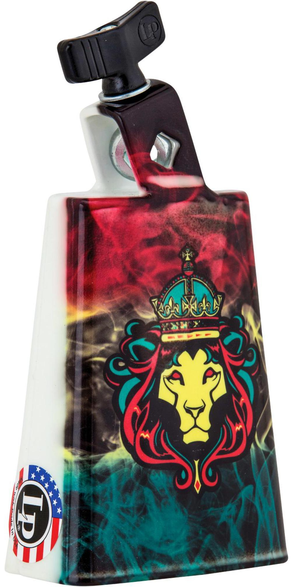 LP Black Beauty Collectabells Cowbell Rasta Lion Smoke 5 in. by LP