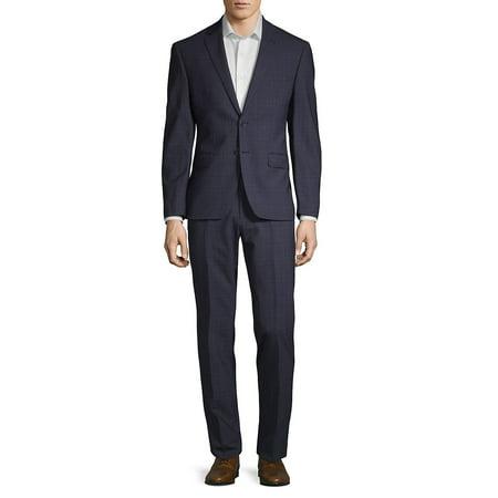 Plaid Wool-Blend Suit