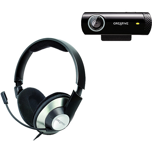 Creative Labs ChatMax HS-620 Headset with Creative Labs Live! USB Cam Chat HD