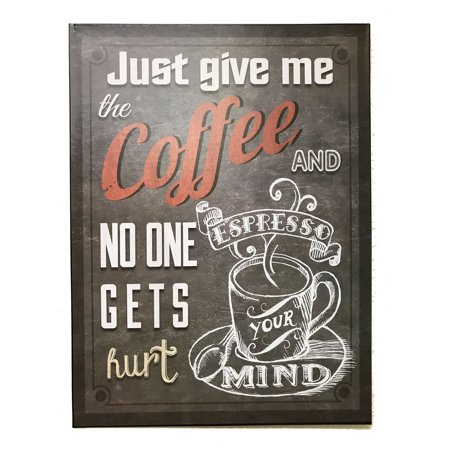Please Take Just One Halloween Sign (Creative Motion Laughable Funny Metal Sign 22660 with Just Give me the Coffee and No One Gets)