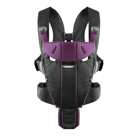 BabyBjorn Baby Carrier Miracle - Black/Purple