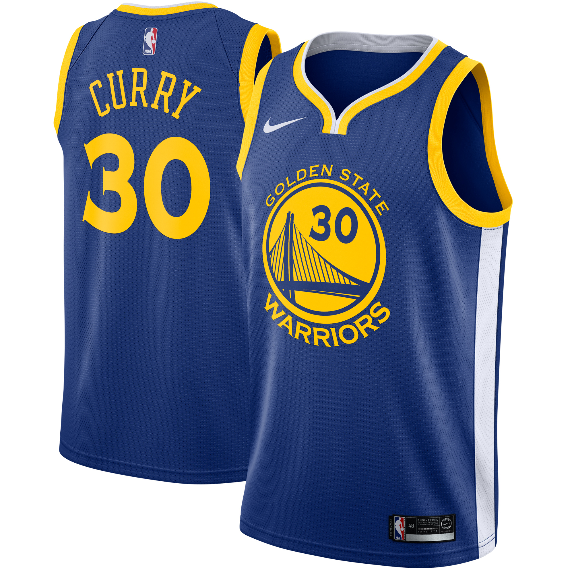 Stephen Curry Golden State Warriors Nike Swingman Jersey Royal - Icon Edition