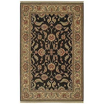 Karastan Ashara Collection Agra Black 5'9 X 9' by Mohawk Carpet Distribution LP