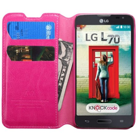 Insten Premium Hot Pink Hybrid TUFF Phone Cover Case For LG Optimus L70 Exceed II Dual D325 - image 3 of 5