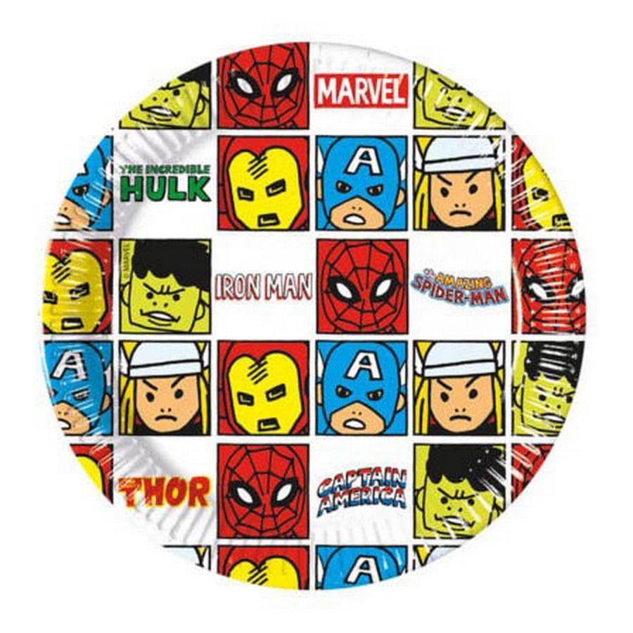 "Avengers Team Power 7"" Dessert Plates (8)"