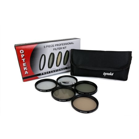 Opteka 67mm High Definition II Professional 5 Piece Filter Kit includes UV, CPL, FL, ND4 and 10x Macro Lens for Sony Cyber-shot DSC-R1 Digital