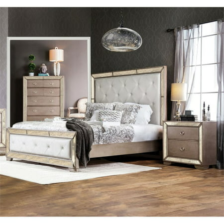 Furniture of America Eckel 2 Piece Panel California King Bedroom Set