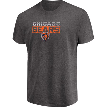 Men's Majestic Heathered Charcoal Chicago Bears Come Into Play T-Shirt Chicago Bears Crew Shirt