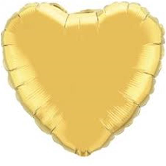 Anagram 41085 4 in. Metallic Gold Heart Foil Balloons