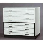 SMI 3042-SMW Bookshelf For 30 X 42 inch Melamine Plan File, White Trim