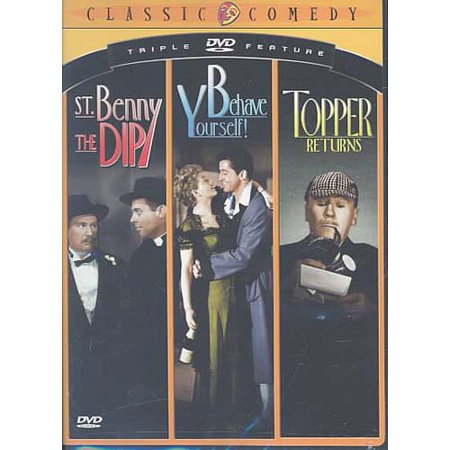 Classic Comedy Triple Feature #2: St. Benny The Dip / Behave Yourself / Topper Returns (Topper Movies)