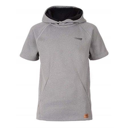 Copper Fit Boys' Short Sleeve Hoodie Sweatshirt, Grey Heather , X-Large (18/20) Boo Kids Hoodie