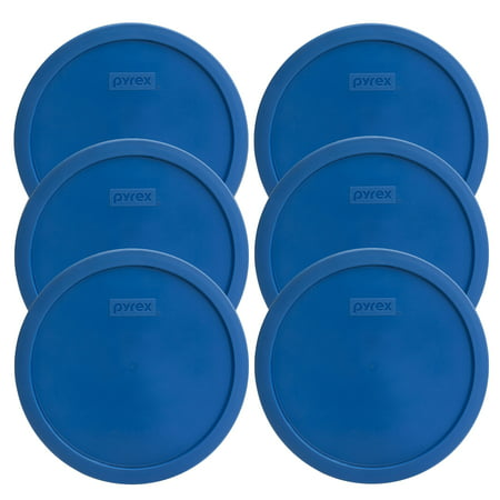 Pyrex Replacement Lid 7401-PC 3-Cup Lake Blue Round Cover 6-Pack for Pyrex 7401 Bowl (Sold Separately)