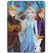 "Disney Frozen Elsa Anna Olaf 46"" x 60"" Plush Throw Blanket"