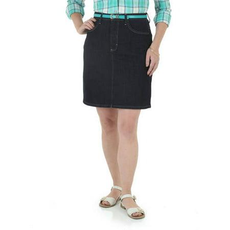 Riders by Lee Women's Denim Belted Skirt