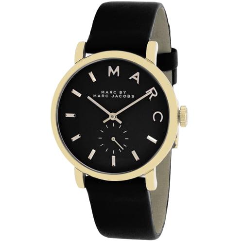 Marc by Marc Women's Baker MBM1269 Black Leather Swiss Quartz Watch