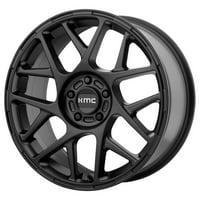 KMC Bully 15X7 5X100.00 Satin Black (10 Mm) Wheel Rim