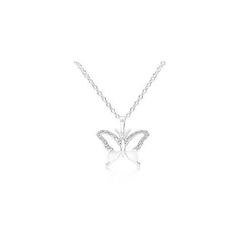 J Goodin P11401R-C01 CZ Butterfly Pendant Necklace