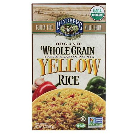 (3 Pack) Lundberg Organic Whole Grain Yellow Rice, 6